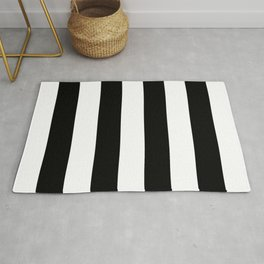 Big Lines Black Rug