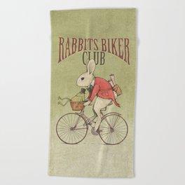 Rabbits Biker Club Beach Towel