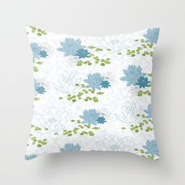 Water Lily Dreams Throw Pillow