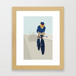 Velo against the clock Framed Art Print