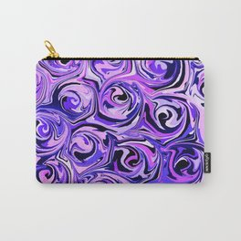 Violet and Lilac Paint Swirls Carry-All Pouch