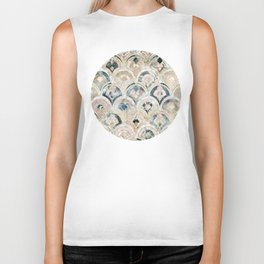 Art Deco Marble Tiles in Soft Pastels Biker Tank
