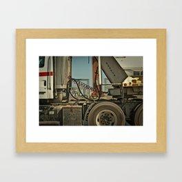 On the Road. Framed Art Print