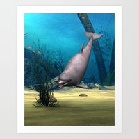 dolphin Art Prints featuring Dolphin by Design Windmill