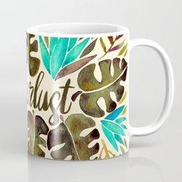 Tropical Wanderlust – Turquoise & Olive Coffee Mug