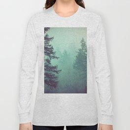 Forest Fog Fir Trees Long Sleeve T-shirt