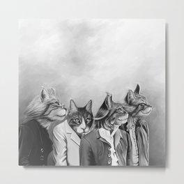 Beatle Cats Metal Print