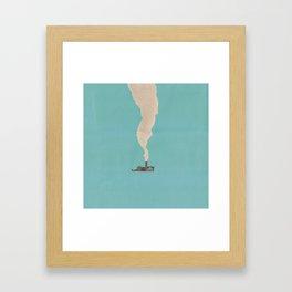 Torn Around — Smoke Framed Art Print