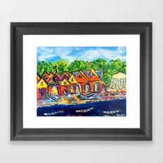 Boathouse Row  Framed Art Print