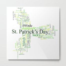 Saint Patricks Day Heritage Metal Print