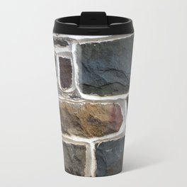 Stone Wall Texture Travel Mug