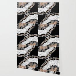 Yin Yang Agate Glitter Glam #8 #gem #decor #art #society6 Wallpaper