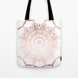 Positive Thoughts Mandala Rose Gold Tote Bag