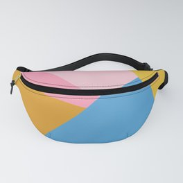 Cute Colorful Diagonal Color Blocking Fanny Pack