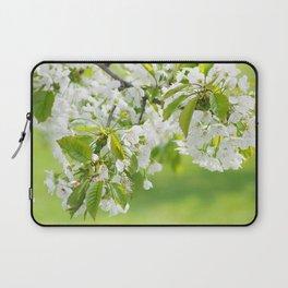 White cherry blossoms romance Laptop Sleeve