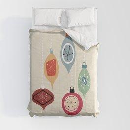 Retro Christmas Baubles Comforters