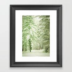Winter Pine Trees Framed Art Print
