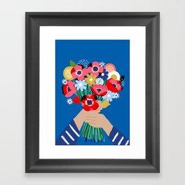 Darling Posy Framed Art Print