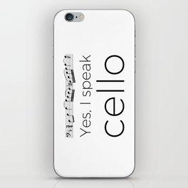 I speak cello iPhone Skin