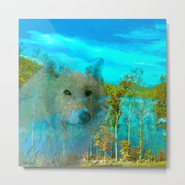 THE DAY OF THE WHITE WOLF Metal Print