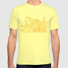 Sunny Morning Mens Fitted Tee Lemon SMALL