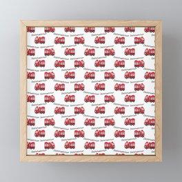 Firetruck Framed Mini Art Print