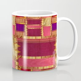"""""""Exotic fabric, ethnic and bohemian style, patches"""" Coffee Mug"""