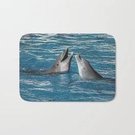Couple of dolphins playing Bath Mat
