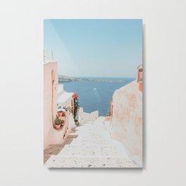 Santorini Oia Metal Print