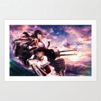 Battleship Nagato - Kancolle Art Print