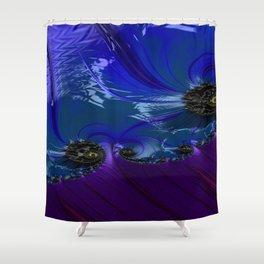 Grained Festiveness Fractal 7 Shower Curtain