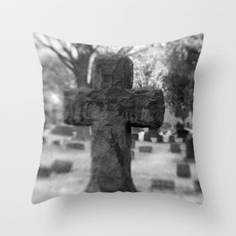 Cemetery Cross Throw Pillow