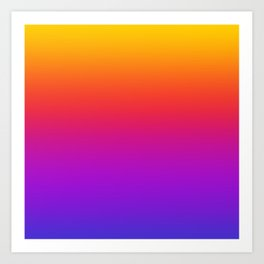 Colorful Gradient Pattern Neon Abstract Rainbow Art Print