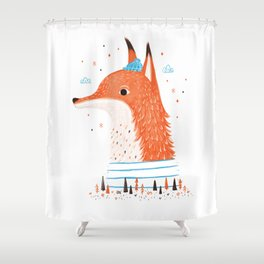Foxy Forest Shower Curtain