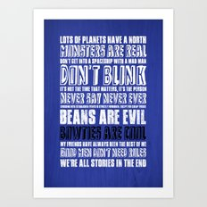 What I've learned from Doctor Who Art Print