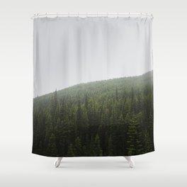 Foggy Pine Forest | Alberta | Canada Landscape Shower Curtain