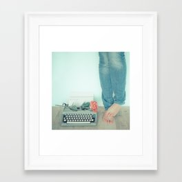 It's Only Words... Framed Art Print