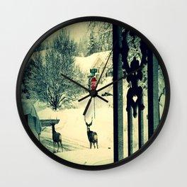 Deer crossing Wall Clock