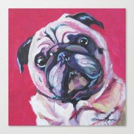 Pug Named Daisy Canvas Print