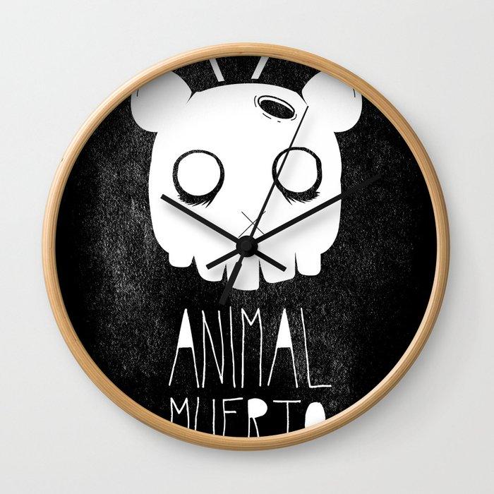 Animal Muerto Wall Clock
