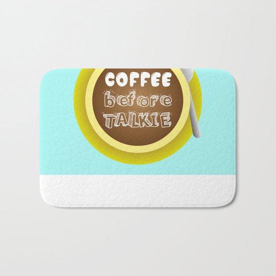 CoffeeBeforeTalkie Bath Mat