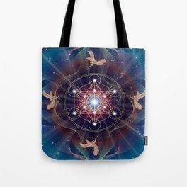Metatron's Cube - Merkabah - Peace and Balance Tote Bag