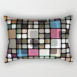 Textured Retro Pattern Rectangular Pillow
