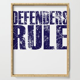 Defenders Rule - Sports Serving Tray