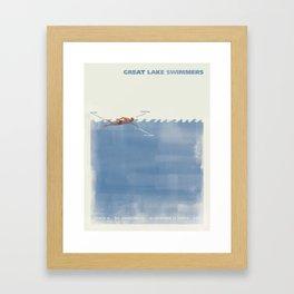 Great Lake Swimmers Gig Poster Framed Art Print