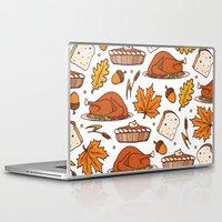 thanksgiving Laptop & iPad Skins featuring thanksgiving by Ceren Aksu Dikenci