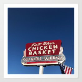 Dell Rhea Chicken Basket, Willowbrook, IL Art Print