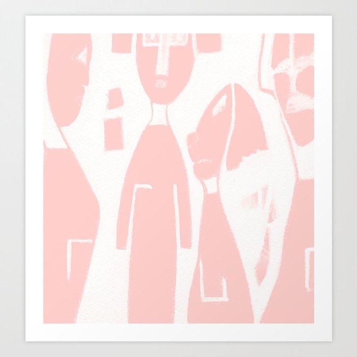 pink family Art Print