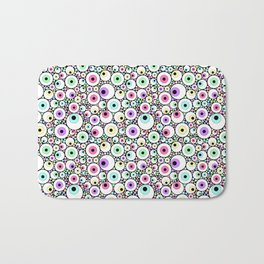 Candy Pastel Eyeball Pattern Bath Mat