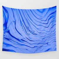 spiritual Wall Tapestries featuring kandinsky's deep spiritual blue by blair__berger